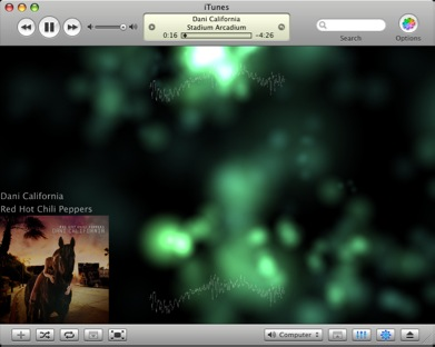 Soundstream as an iTunes Visualizer